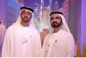 his highness sheikh mohammed bin rashid al maktoum prime minister and ruler of dubai with his highness sheikh mohamed bin zayed al nahyan crown prince of