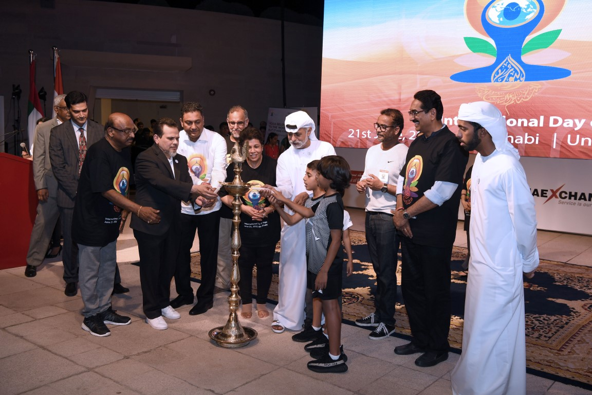 Sheikh Nahyan attends Indian Embassy Yoga Day celebrations
